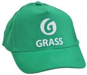 Бейсболка зеленая с логотипом
