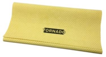 Замша жёлтая искусственная перфорированная TORNADO